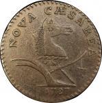 1787 New Jersey copper. Maris 61-p. Rarity-5. Large Planchet, PLURIBS. VF-30 (PCGS).