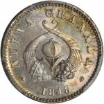 COLOMBIA. 1848 pattern 1/2 Real. Bogotá mint. Restrepo P26. Silver. SP-66 (PCGS).
