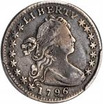 1796 Draped Bust Half Dime. LM-1. Rarity-3. LIKERTY. Fine Details--Damage (PCGS).