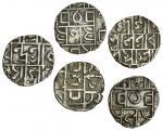 Cooch Behar, Prana Narayan (1633-65), Half-Tanka, 4.73g, Upendra Narayan (1715-63), Half-Rupee, 4.69