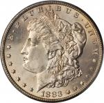 1883-CC Morgan Silver Dollar. MS-63 (PCGS).