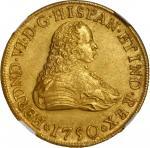 MEXICO. 8 Escudos, 1750-Mo MF. Mexico City Mint. Ferdinand VI. NGC MS-61.