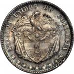 COLOMBIA. 1863 Peso. Bogotá mint. Restrepo 315.2. MS-65 (PCGS).