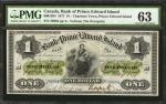 CANADA. Bank of Prince Edward Island. 1 Dollar, 1877. P-UNL. CH# 600-12-04. PMG Choice Uncirculated
