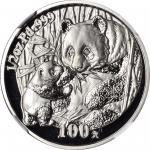 2005年熊猫纪念钯币1/2盎司 NGC PF 69