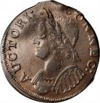 1786 Connecticut Copper. Miller 5.5-M, W-2595. Rarity-3. Mailed Bust Left. Off-Center Partial Brocka