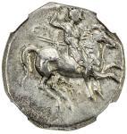 TARENTUM/TARAS: ca。 280-272 BC, AR didrachm 40nomos41 406。29g41, Vlasto-711, SNG ANS-1081, nude warr