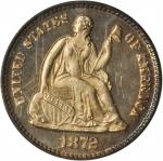 1872 Liberty Seated Half Dime. Proof-65 (PCGS). CAC.