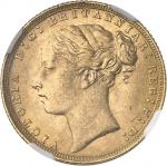 GRANDE-BRETAGNE Victoria (1837-1901). Souverain 1871, Londres.