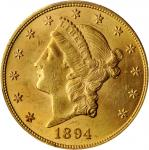1894 Liberty Head Double Eagle. MS-62 (PCGS).
