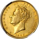 GREAT BRITAIN. Sovereign, 1825. NGC AU Details--Surface Hairlines.