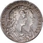1689年1/2圆。威廉和玛丽。 GREAT BRITAIN. 1/2 Crown, 1689. William & Mary. PCGS EF-45.