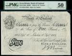 Bank of England, John Nairne (1902-1918), 5, London, 10 September 1904, serial number 26/D 55385, bl