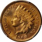 1908-S Indian Cent. MS-66 RD (PCGS).