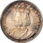 1893 Isabella Quarter. MS-66 (PCGS). CAC.