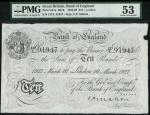 Bank of England, C.P. Mahon, £10, London 16 March 1927, serial number 127L 91947, black and white, o