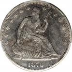 1876-CC Liberty Seated Half Dollar. WB-14. Rarity-3. Medium CC, Repunched Mintmark. VF-25 (PCGS).