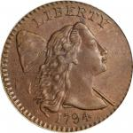 1794 Liberty Cap Cent. S-31. Rarity-1. Head of 1794. MS-63 BN (PCGS).