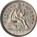 1850 Liberty Seated Dime. MS-64 (PCGS). CAC.