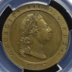 GREAT BRITAIN George III ジョージ3世(1760~1820) Pattern 1/2Penny in Brass 1795 PCGS-PR63 Proof UNC