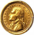 1903 Louisiana Purchase Exposition Gold Dollar. Jefferson Portrait. AU Details--Mount Removed (PCGS)