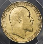 GREAT BRITAIN Edward VII エドワード7世(1901~10) 2Pounds 1902 PCGS-XF45 VF+