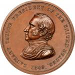 1849 Zachary Taylor Indian Peace Medal. Bronze. Second Size. Julian IP-28, Prucha-47. MS-63 BN (NGC)