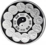 1992年中国生肖币发行12周年纪念银币1公斤 完未流通