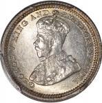 Hong Kong, silver 5 cents, 1932, PCGS MS63, #42016926, mild toning at periphery
