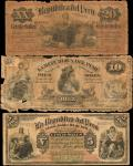 PERU. Republica del Peru. 5 Soles to 20 Soles, 1879. P-4, 5 & 6. Very Good to Very Fine.