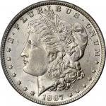 1887/6-O Morgan Silver Dollar. VAM-3. Top 100 Variety. MS-64 (PCGS). CAC. OGH.