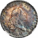 1795 Flowing Hair Half Dollar. O-105a, T-25. Rarity-4. Two Leaves. MS-62 (NGC).