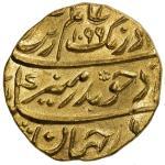 MUGHAL: Aurangzeb, 1658-1707, AV mohur 4010。90g41, Surat, AH1099 year 24, KM-315。45, fabulous strike
