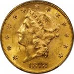 1878 Liberty Head Double Eagle. Doubled Die Obverse, Doubled Die Reverse. MS-62 (PCGS).