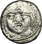 Etruscan Coins, Etruria, Populonia. AR 20-Asses, 3rd century BC. Vecchi EC I, 38.41-46 (O5/R6), HN I