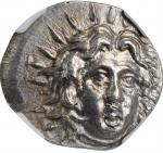 CARIA. Islands off Caria. Rhodes. AR Didrachm (6.79 gms), ca. 229-205 B.C. NGC MS, Strike: 4/5 Surfa
