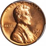 1961-D Lincoln Cent. MS-67 RD (PCGS).