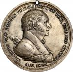 1837 Martin Van Buren Indian Peace Medal. Silver. First Size. Julian IP-17, Prucha-44. About Uncircu