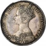 GREAT BRITAIN. Crown, 1847. PCGS PROOF-64.