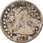 1796 Draped Bust Half Dollar. Small Eagle. O-102, T-2. Rarity-5. 16 Stars. VF-25 (PCGS).