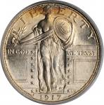 1917-D Standing Liberty Quarter. Type I. MS-65 FH (PCGS). OGH.