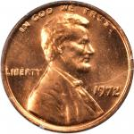 1972 Lincoln Cent. FS-101. Doubled Die Obverse. MS-66 RD (PCGS). OGH--First Generation.