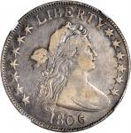 1806 Draped Bust Half Dollar. O-112, T-12. Rarity-4. 6/Inverted 6. VF Details--Improperly Cleaned (N