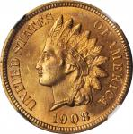 1908-S Indian Cent. MS-65 RD (NGC).