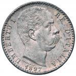 Savoy Coins;Umberto I (1878-1900) 2 Lire 1897 - Nomisma 1001 AG Minimo colpetto al bordo - FDC;130