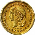 COLOMBIA. 1873 Peso. Medellín mint. Restrepo 324.2. MS-62 (PCGS).