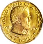 1922 Grant Memorial Gold Dollar. With Star. MS-64 (PCGS).