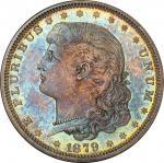 1879 Pattern Schoolgirl Standard Dollar. Judd-1608, Pollock-1804. Rarity-6+. Silver. Reeded Edge. Pr