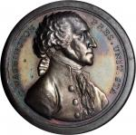 1797 (ca. 1859) Washington Sansom Medal. U.S. Mint Dies. Silver. 40.7 mm. 26.53 grams. Musante GW-59