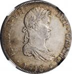 PERU. 8 Reales, 1816-LIMA JP. Lima Mint. Ferdinand VII. NGC AU-53.
